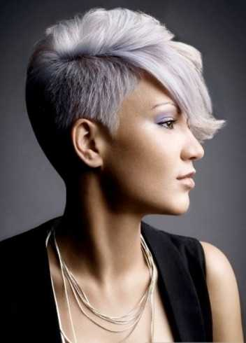 Short-lados-largo front-púrpura-pelo