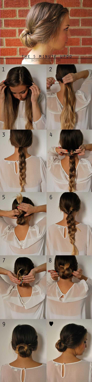 5 Minutos Updo Peinado para el pelo largo