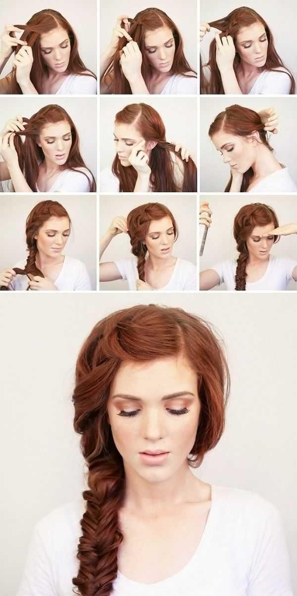 Hermosa trenzado Peinado Tutorial para el largo y grueso pelo