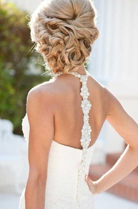 hermosa Updos boda para el pelo largo