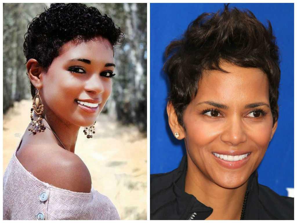 Mejor corto Peinado-Pixie-para-Negro-Mujeres-Ronda-Cara-Forma