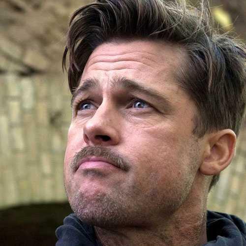 Brad Pitt Furia corte de pelo - Tallado libre