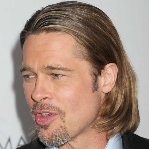 Brad Pitt con el pelo largo