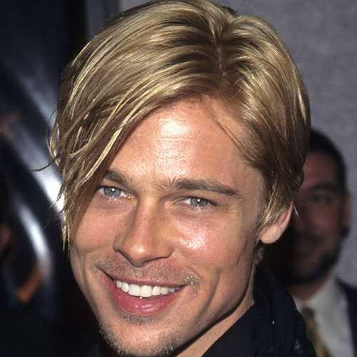 famoso Cabello largo de Brad Pitt