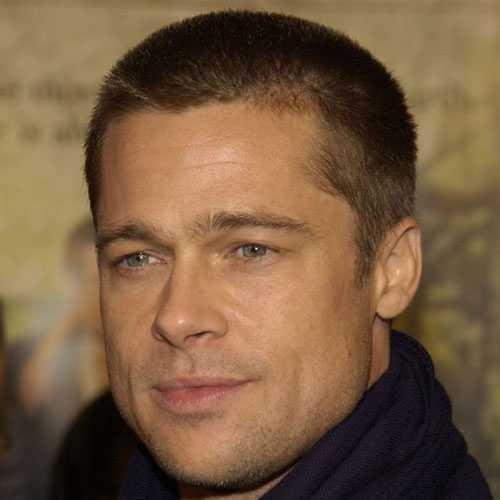 Brad Pitt peinados - Cabello corto