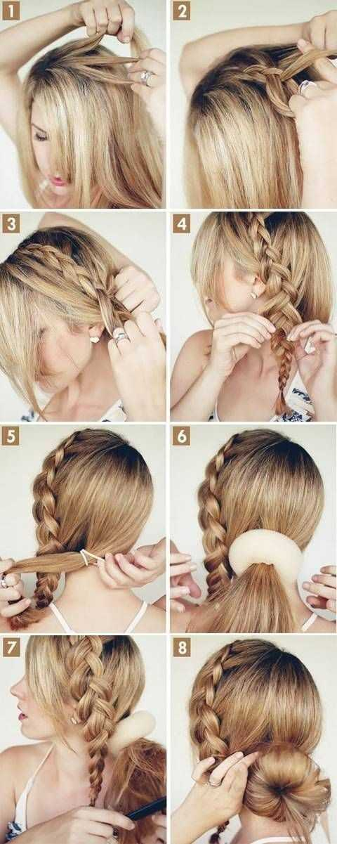 Braid en Bun peinado Tutorial