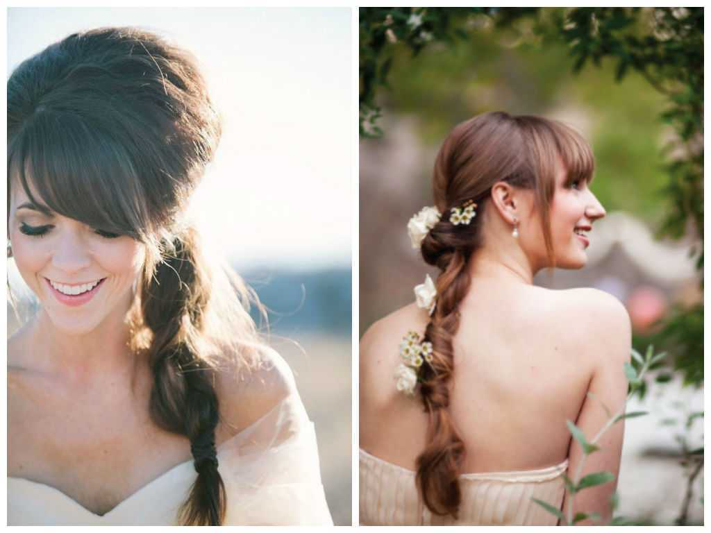 -nupcial Braid-peinados-con-Bangs