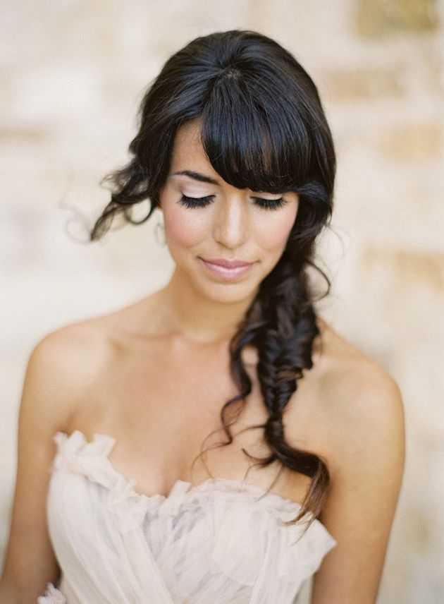Brides-con-Bangs-Brides-con-flecos de boda-Hair-inspiración de novia-reflexiones-2
