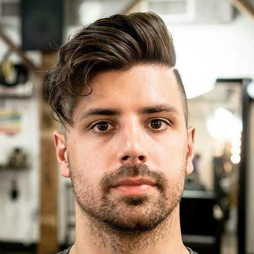 peinados frescos para los hombres con caras redondas
