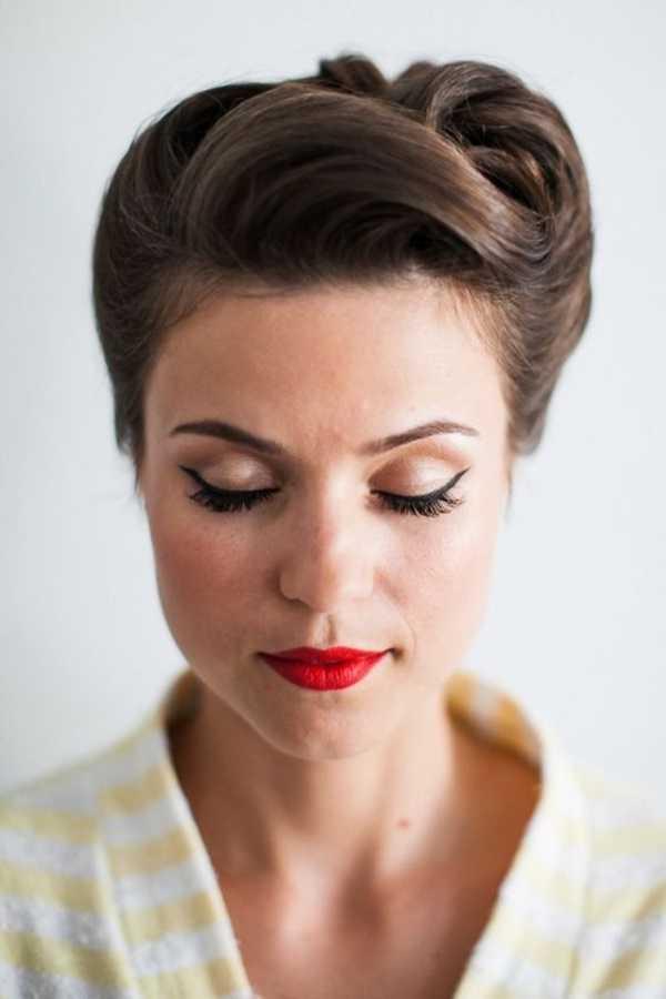 fácil y rápido trabajo peinados para Medio Hair17