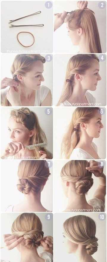 Twisted Fácil Bollo para el pelo largo