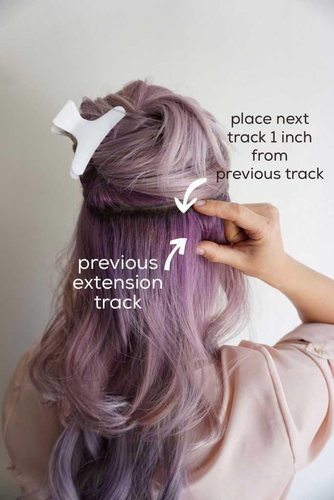 Clip en extensiones de cabello | pelo púrpura