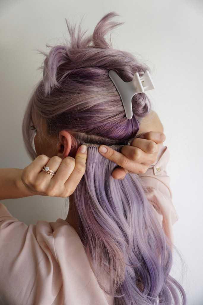 Clip en extensiones de cabello | Purple Hair