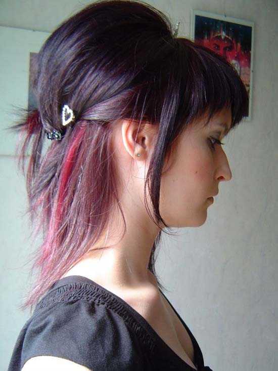 Funky peinados de longitud media pelo ..
