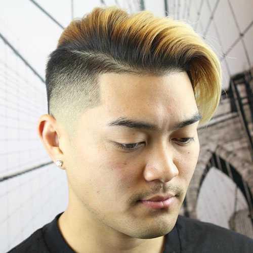 Corte de cabello para hombres asiática con caras redondas