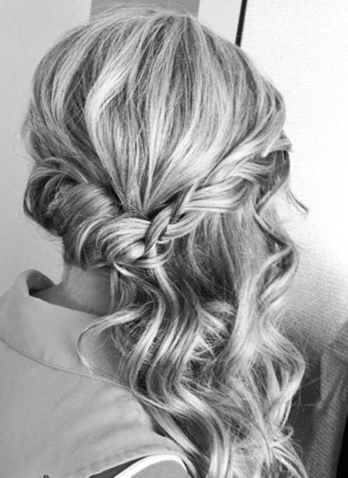 medio Updo Prom peinados 2016 para el pelo largo