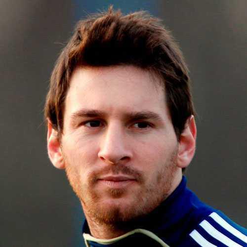 Leo Messi peinados - el pelo más largo