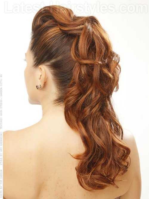 rizado largo lindo Peinados Prom