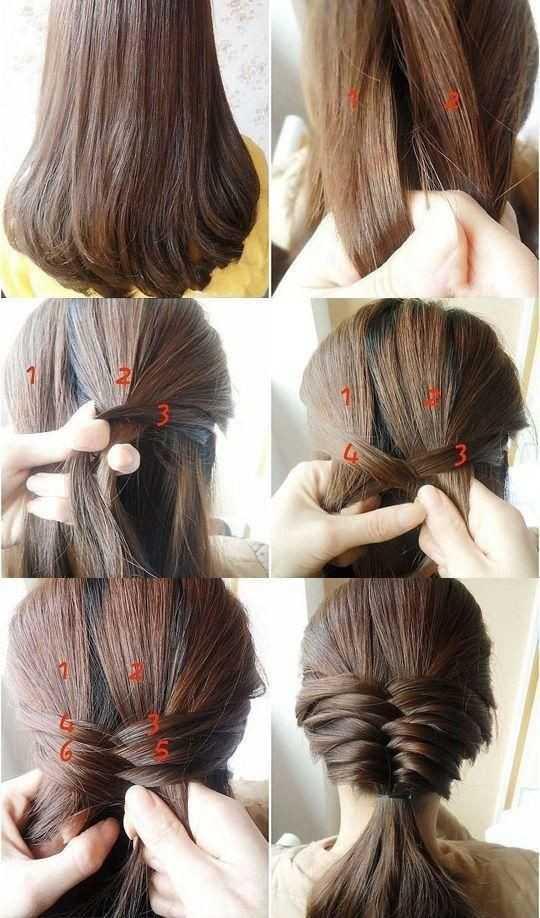 cola de caballo baja para el Medio pelo