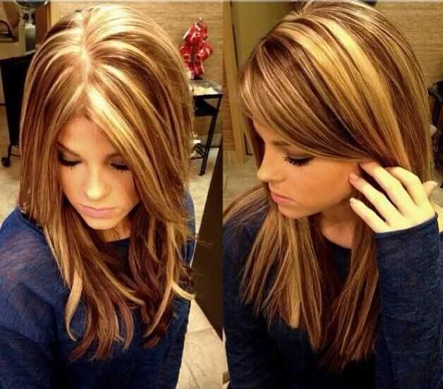 Medium Peinado con reflejos