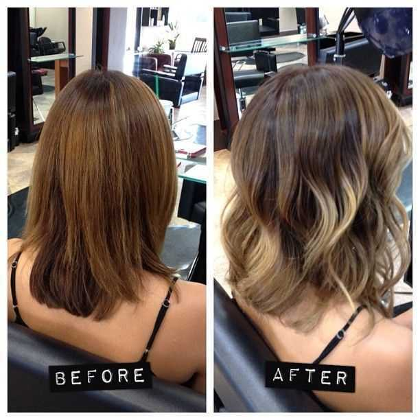 medio estratificado Peinado para Ombre Hair