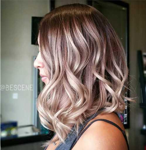 Medio Ondulado Peinado para Ombre Hair