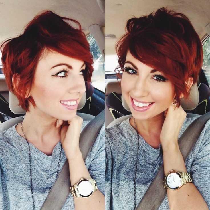 Messy-rojo-Corto corte de pelo corto y peinados fines de la primavera de 2015