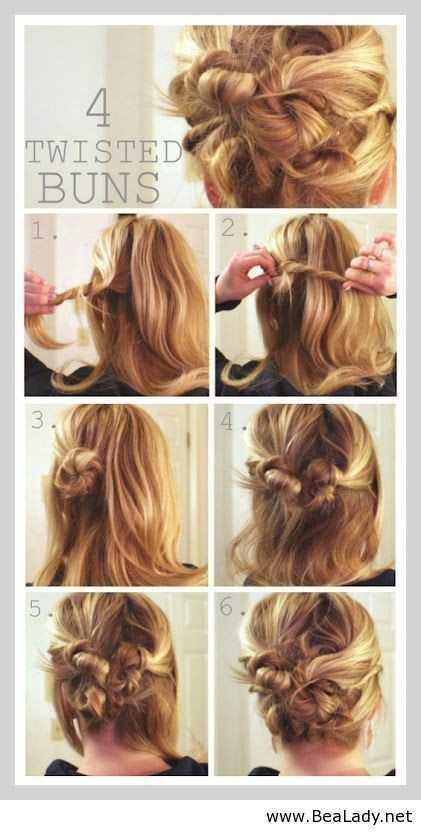 Idea sucio trenzado Bollo para el pelo largo