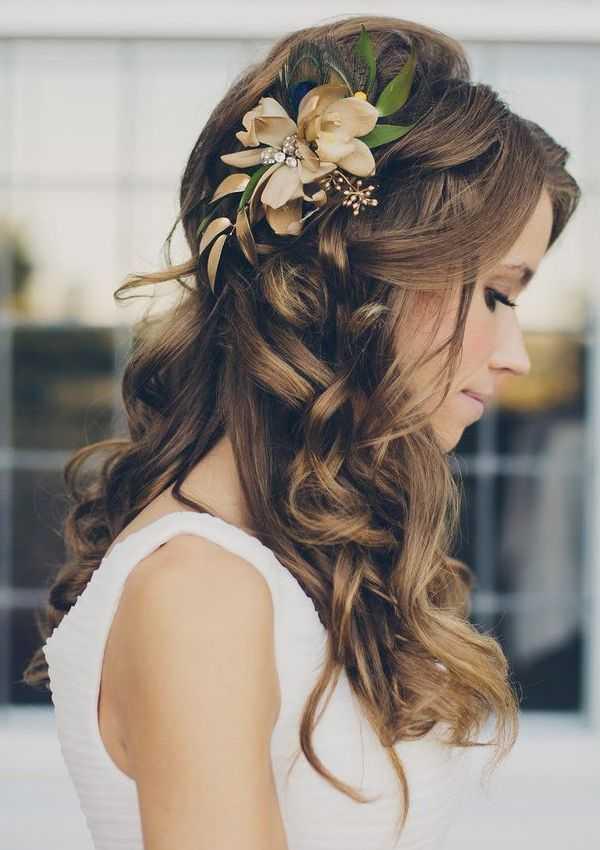 excepcional peinados de novia para el otoño