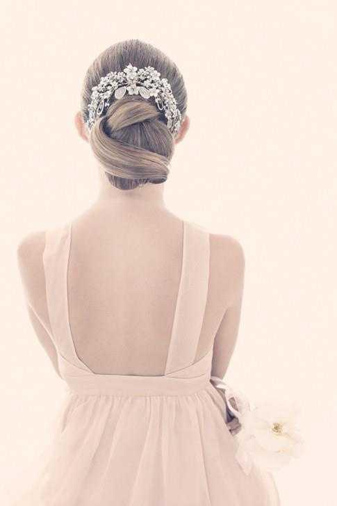 Updo romántica de la boda - Inspiración pelo de la boda
