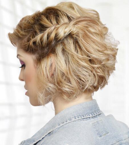 cuerda trenzada Peinado Cabello Medio