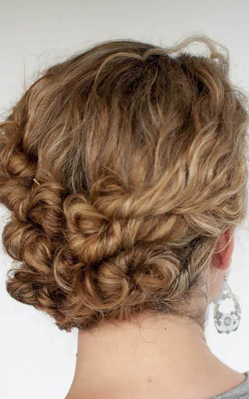 Twisted rizos en updo