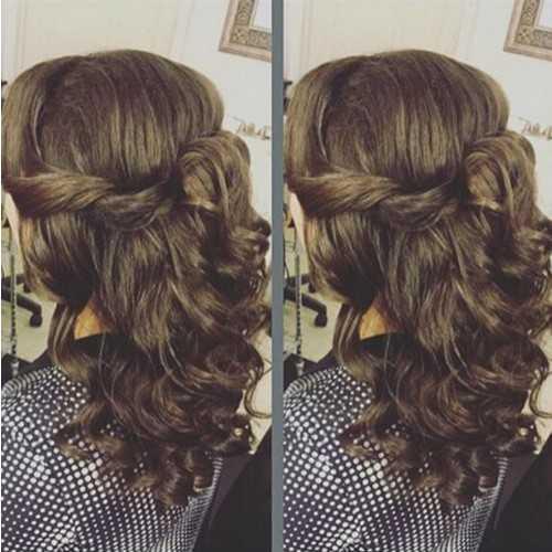 Twisted Medio recogido peinado para el cabello Melena mediana