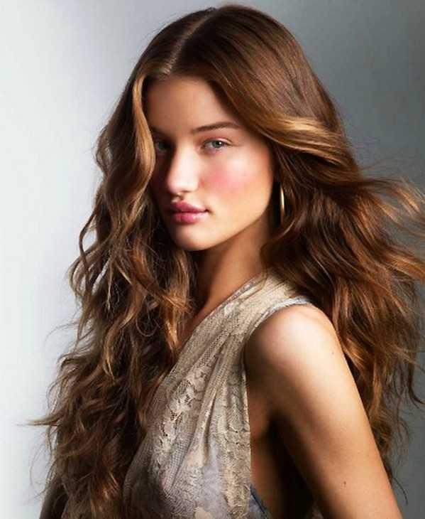 onduladas peinados para el pelo largo