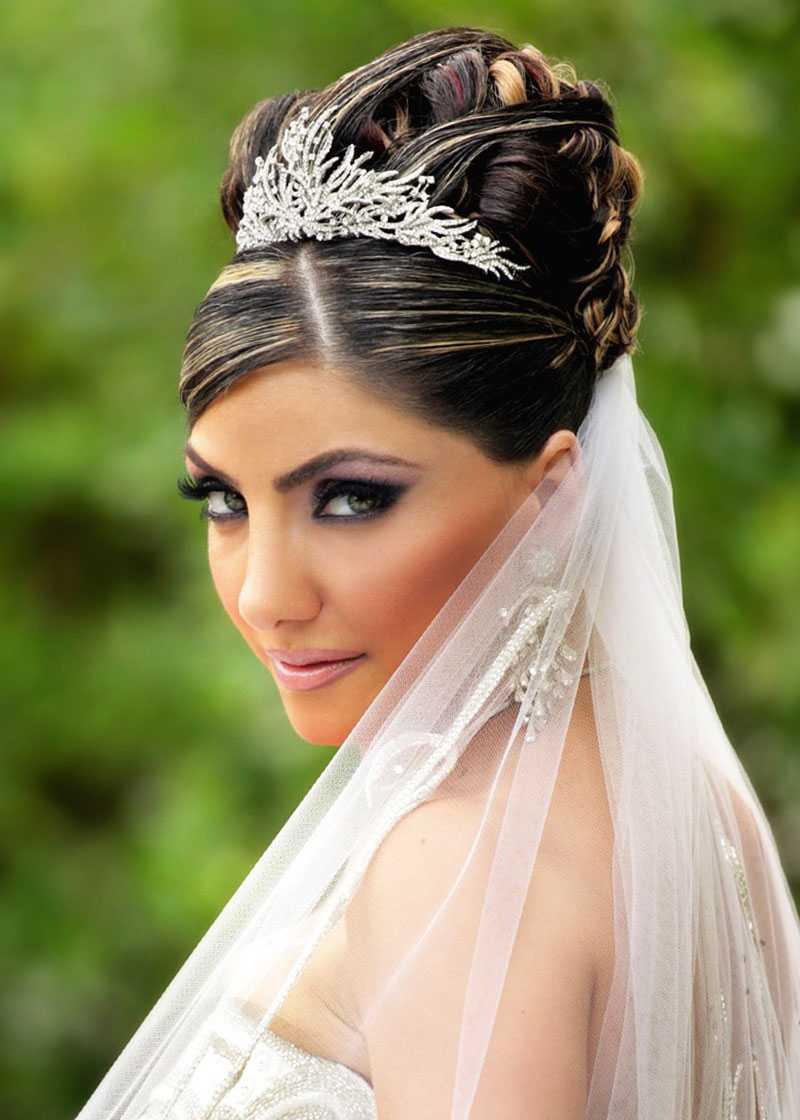 boda peinados con Updos velo