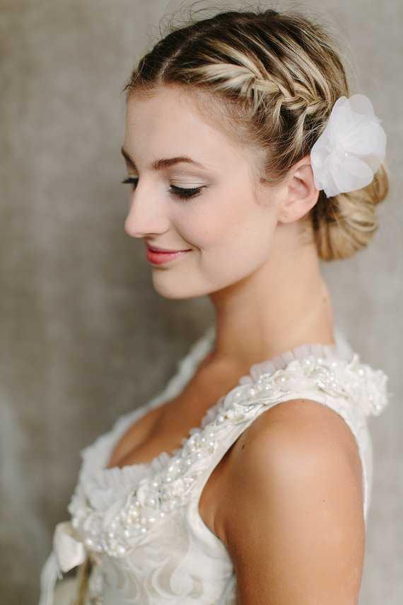 boda laterales Bun peinados