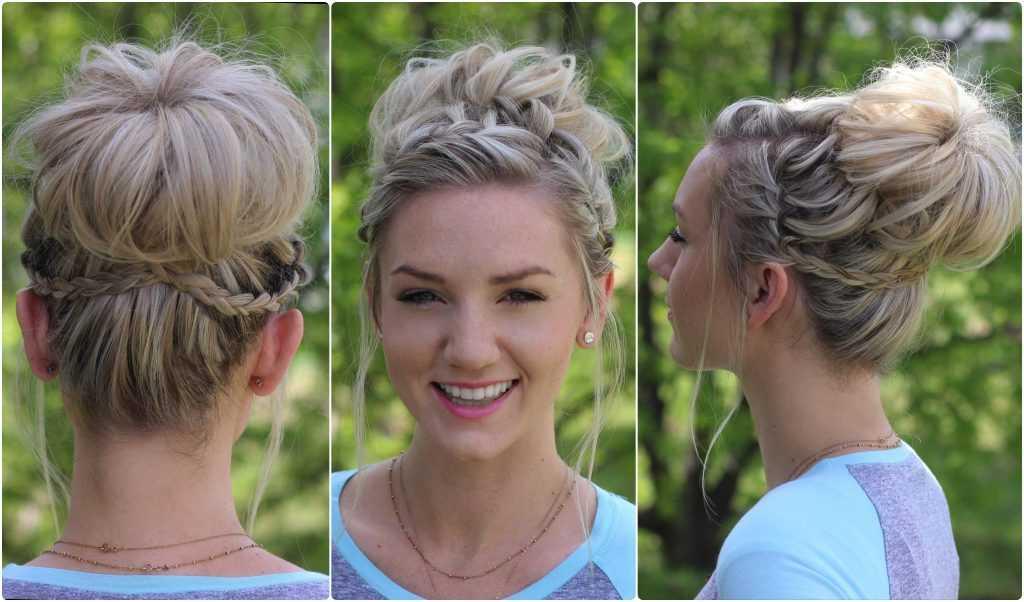 Cascada Bun | lindas chicas peinados