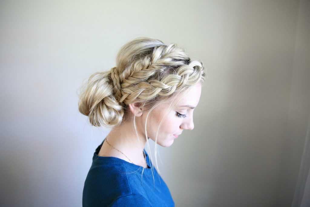 Mixed Braid | Bun peinados de las muchachas linda