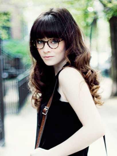 flequillo-con-gafas redondas