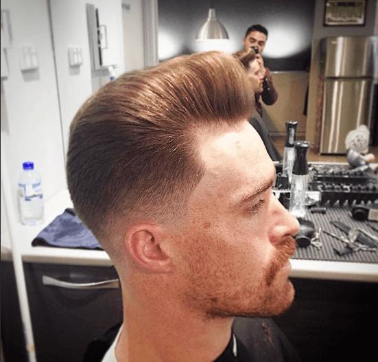 vista de la barbería