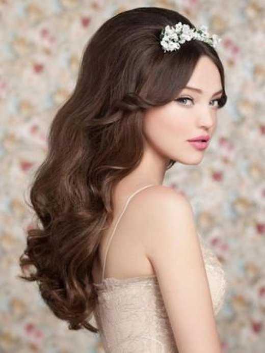 -peinado de ondas-ción en capas novia-a-