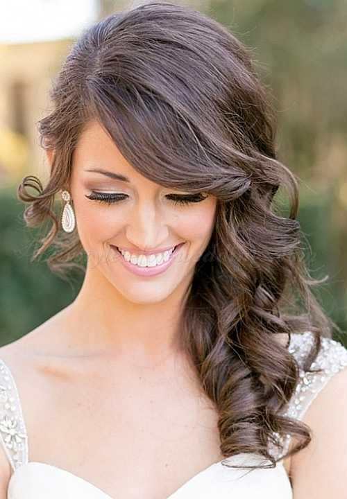 pelo hacia abajo peinados de boda