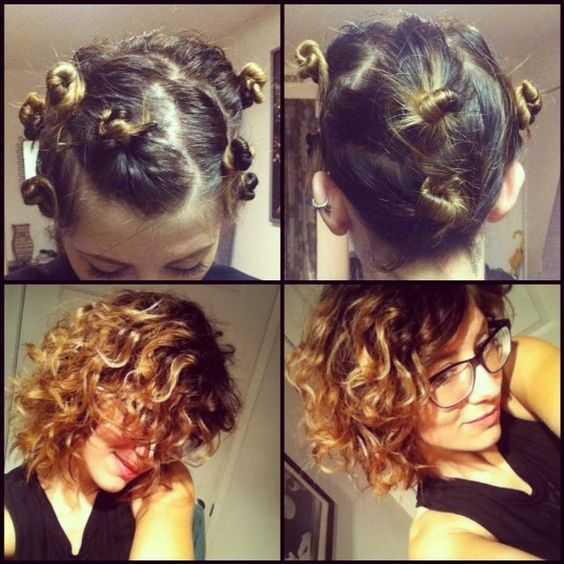 rizos del lazo del pelo