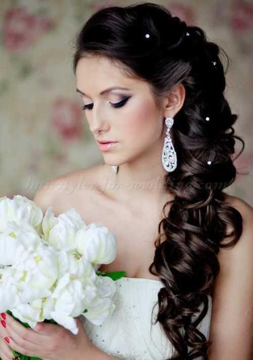 la mitad de la mitad hacia abajo el peinado de novia