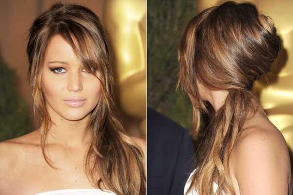 Jennifer-Lawrence-trenzado de cola de caballo