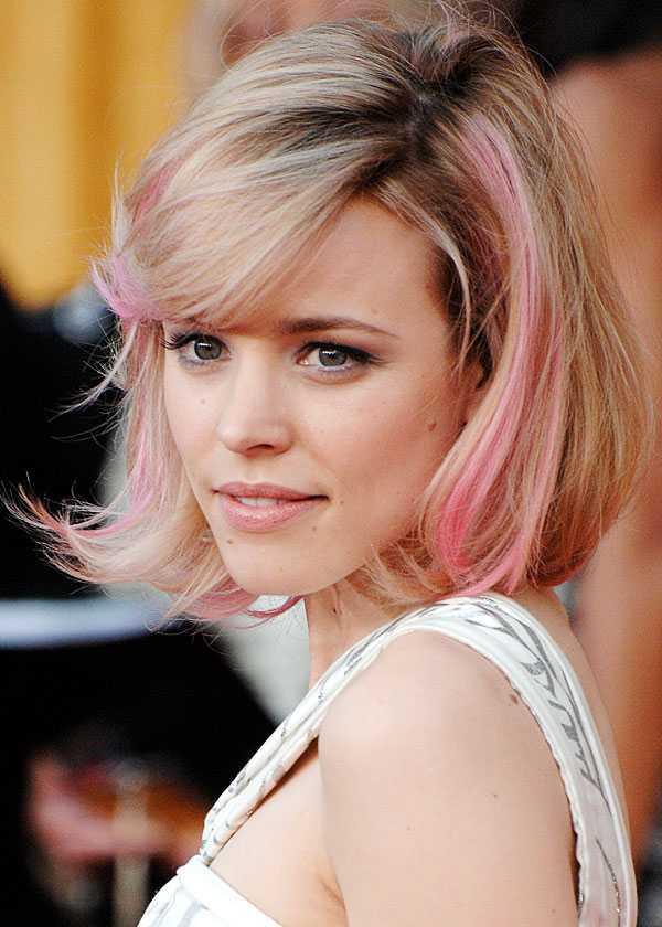Rachel McAdams-con-rubia-destacados-pelo-rosa