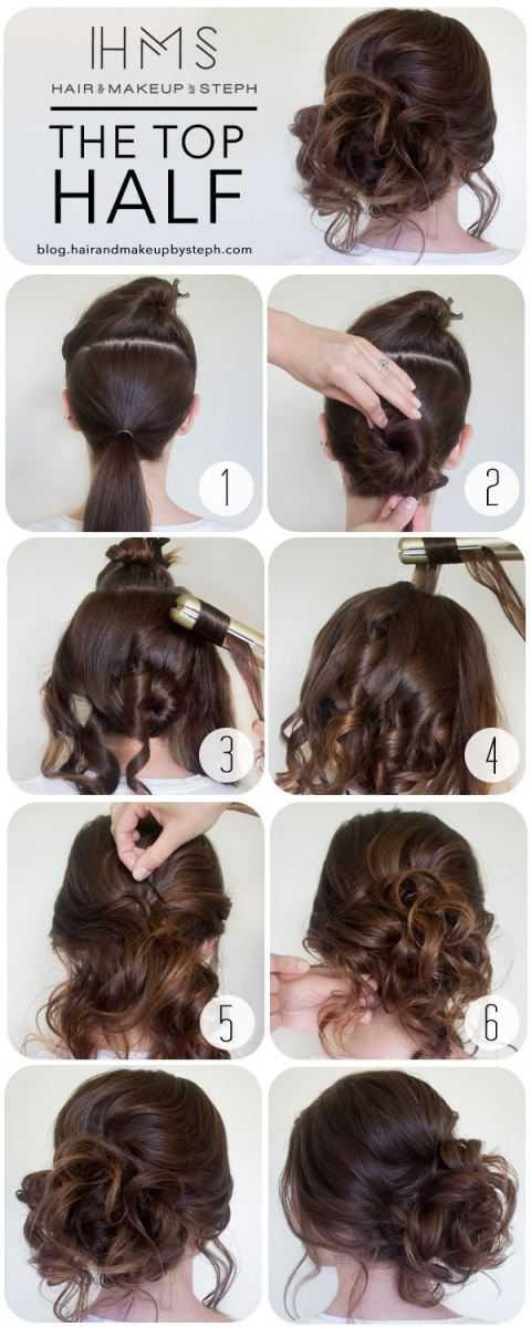 haciendo girar su cabello