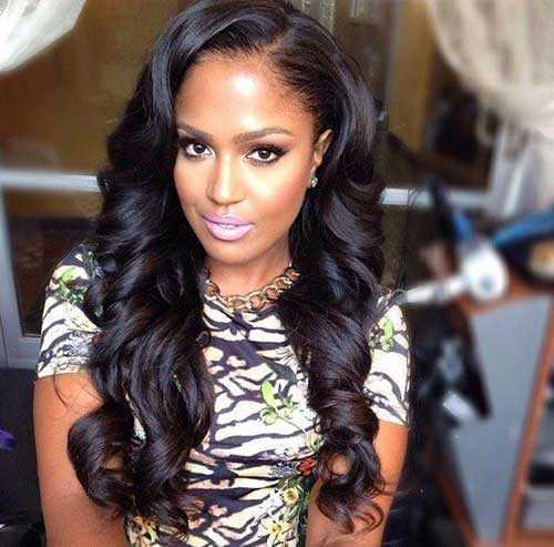 Los peinados para niñas negras con pelo largo-15