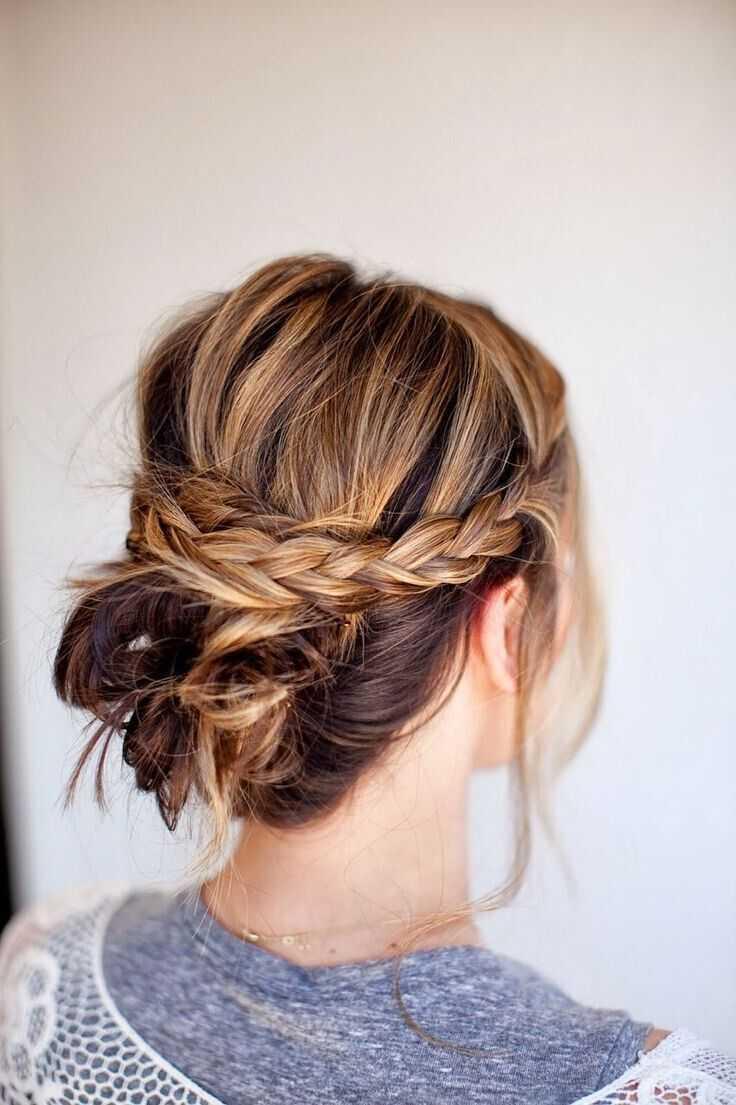 cortes de pelo de longitud media con trenzas