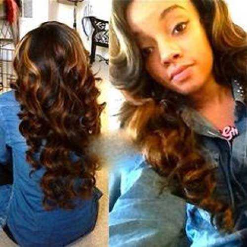 Los peinados para niñas negras con pelo largo-16